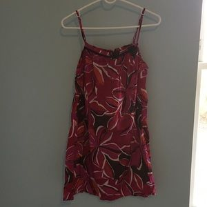 Pink and Red Floral Sundress